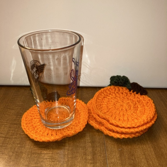 Handmade Pumpkin Coasters